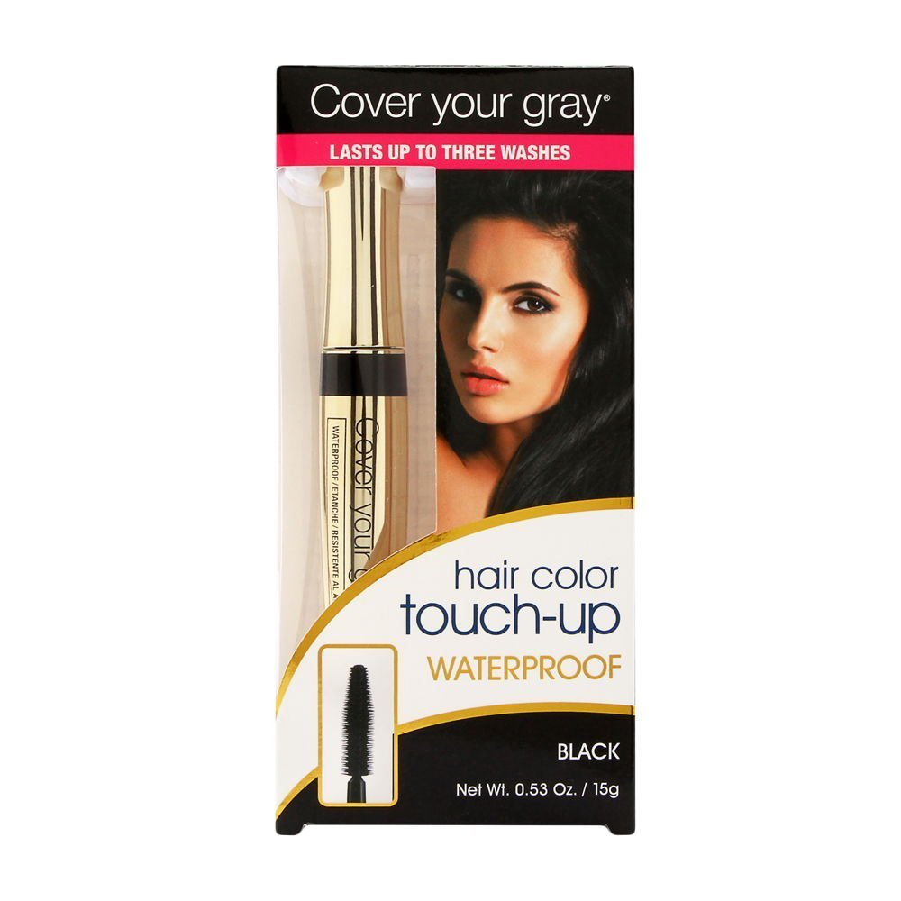Cover Your Gray Waterproof Hair Color Touchup Brush-In - Black