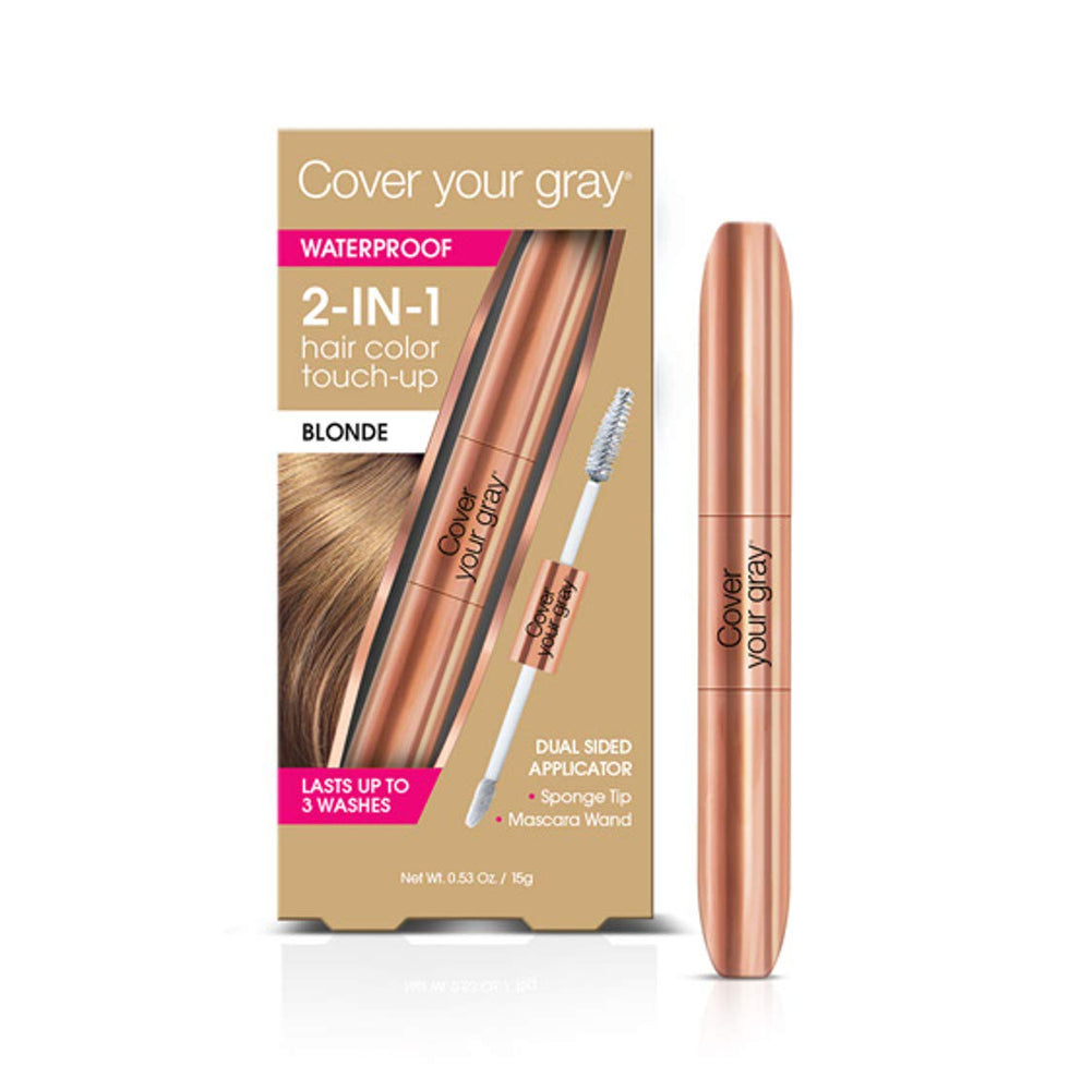 Cover Your Gray Waterproof 2in1 Rose Gold HairColor Touchup Lt. Brown/Blonde 6PK