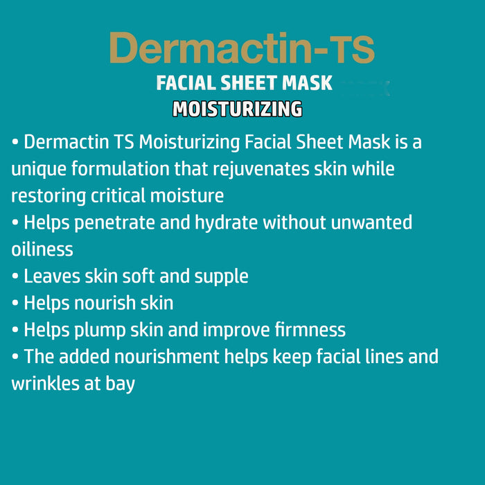 Dermactin-TS Facial Moisturizing Sheet Mask 4CT 6PK