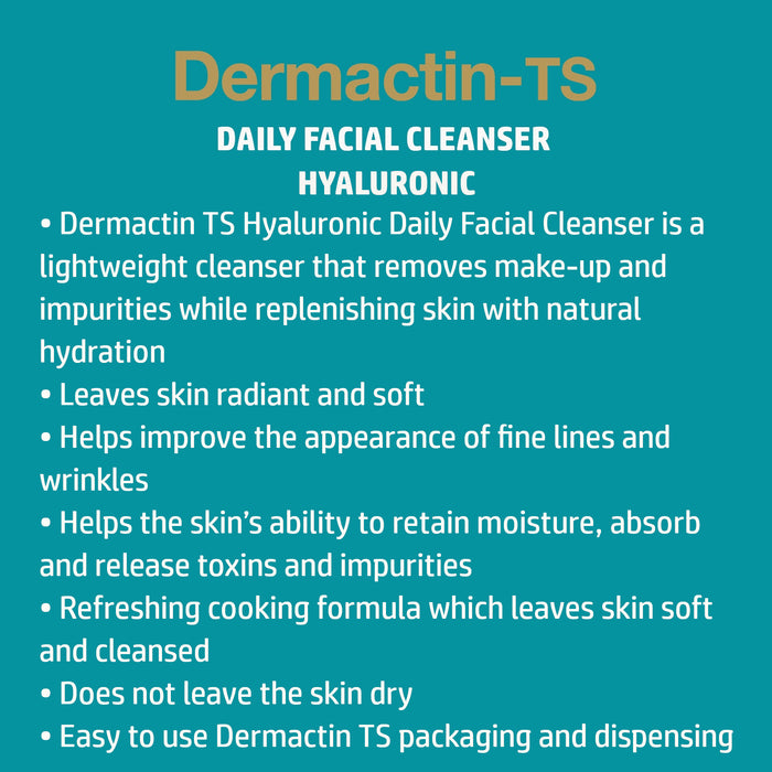 Dermactin-TS Hyaluronic Acid Daily Facial Cleanser  5.85 oz.