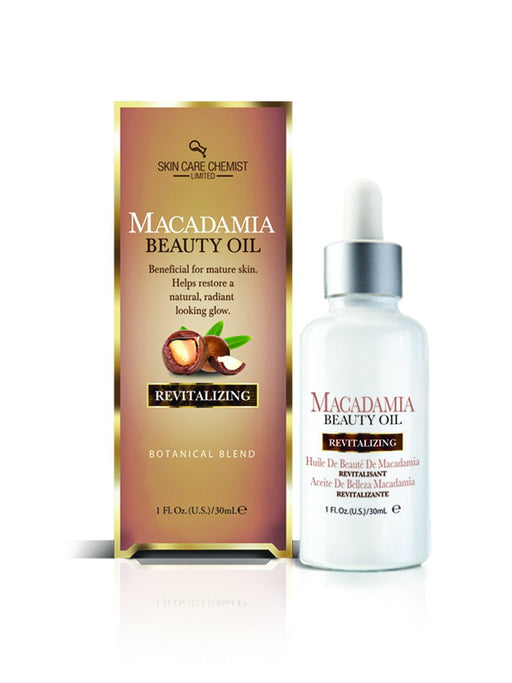 Skin Care Chemist Macadamia Beauty Oil - Revitalizing Formula 2 oz.