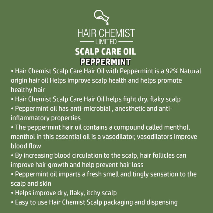 Hair Chemist Scalp Care Hair OIl with Peppermint Oil 2.5 oz. (2-PACK)