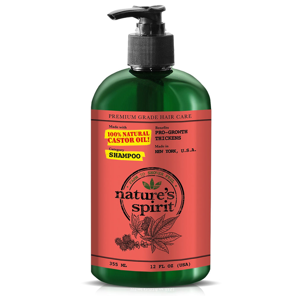 Natures Spirit Pro-Growth Castor Oil Shampoo 12 oz.