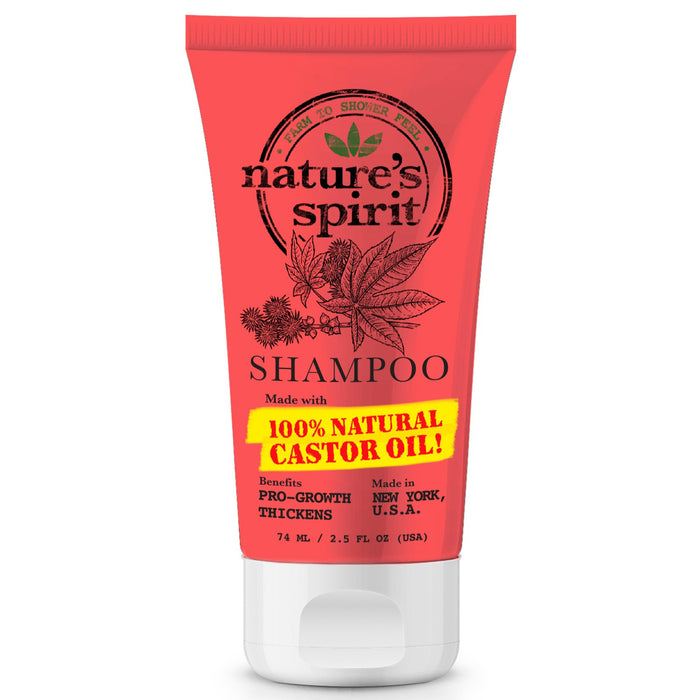 Natures Spirit Pro-Growth Castor Oil Shampoo Travel Size 2.5 oz