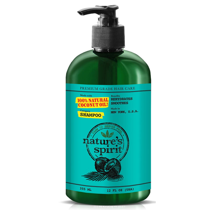 Natures Spirit Rehydrating Coconut Oil Shampoo 12 oz