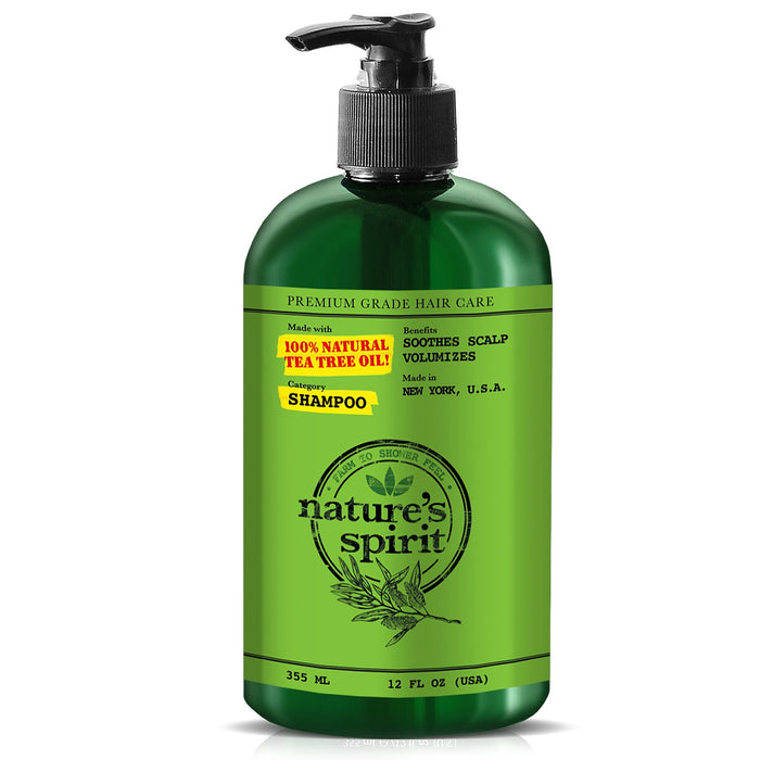 Natures Spirit Scalp Soothing Tea Tree Oil Shampoo 12 oz