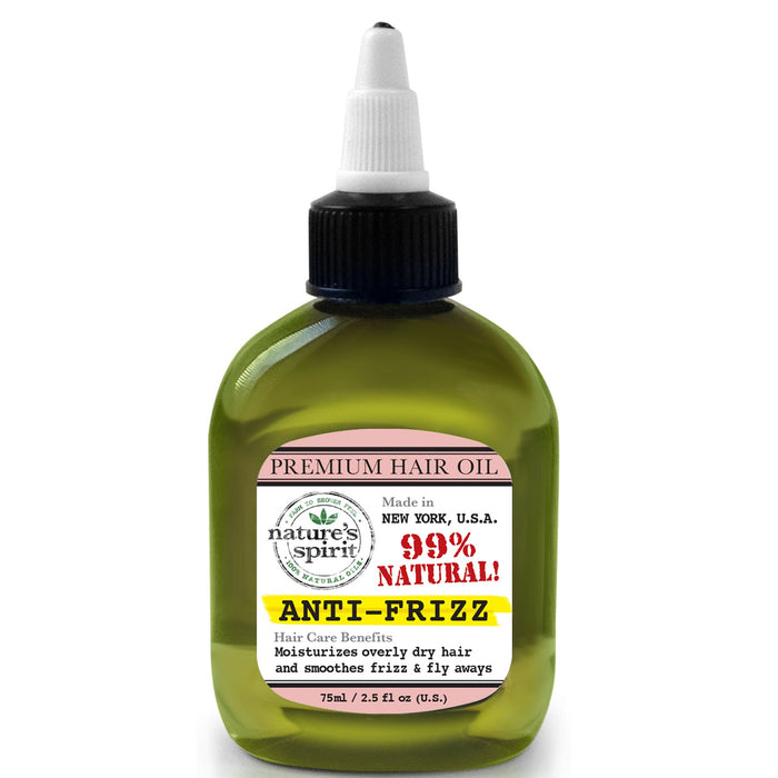 Natures Spirit Premium Hair Oil - Anti-frizz 2.5 oz.