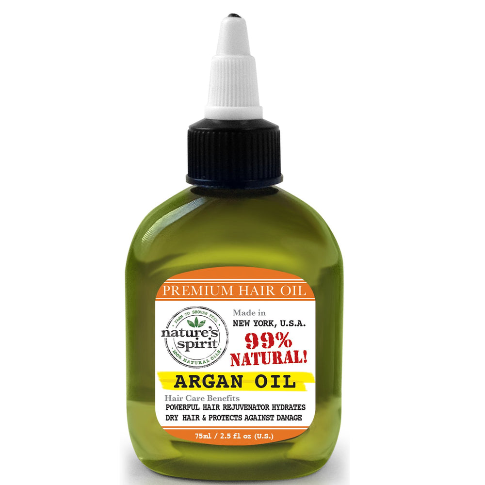 Natures Spirit Premium Hair Oil - Argan 2.5 oz.