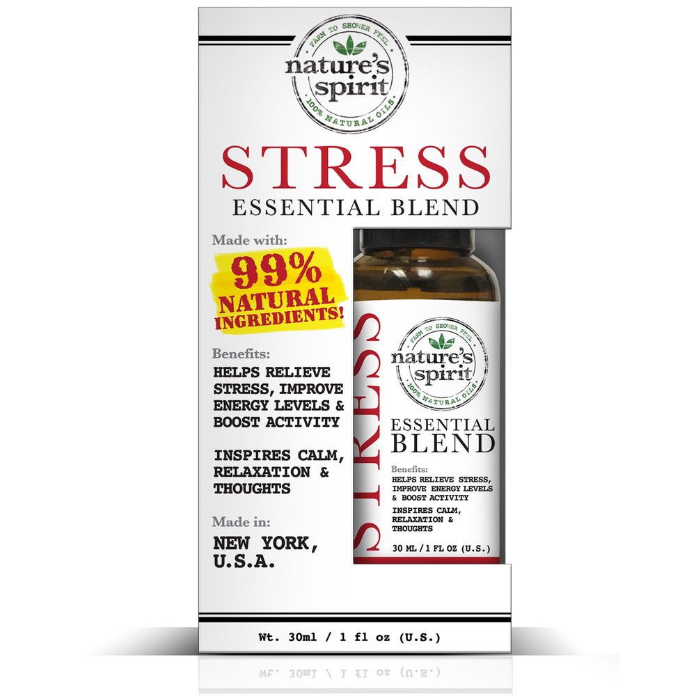 Natures Spirit 100% Natural Essential Oil Blends - Stress 1 oz.