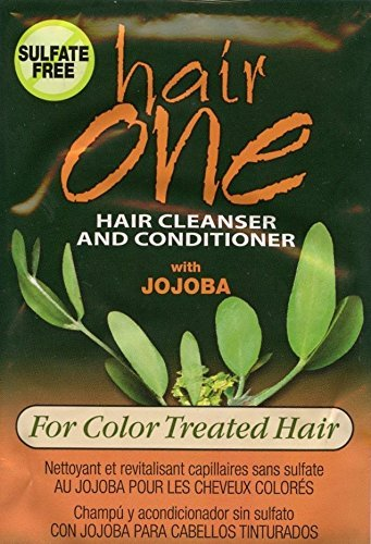 Hair One Jojoba Hair Cleanser Conditioner For Color Treated Hair .608 oz. Packette