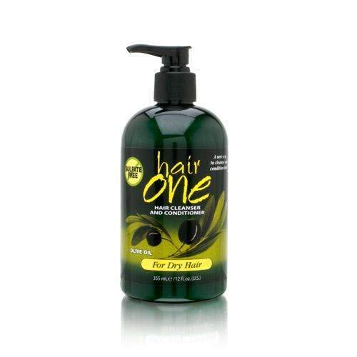 Hair One Cleanser & Conditioner W/ Olive Oil For Dry Hair 12 oz.