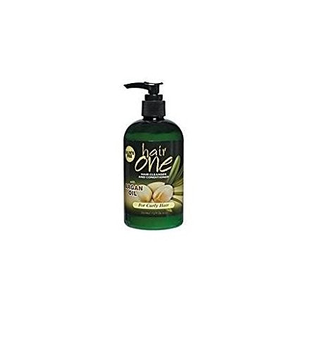 Hair One Cleanser & Conditioner W/ Argan Oil For Curly Hair 12 oz.