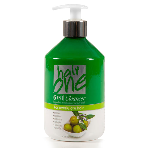 Hair One 6 In 1 Cleanser with Olive Oil For Overly Dry Hair 16.9 oz.