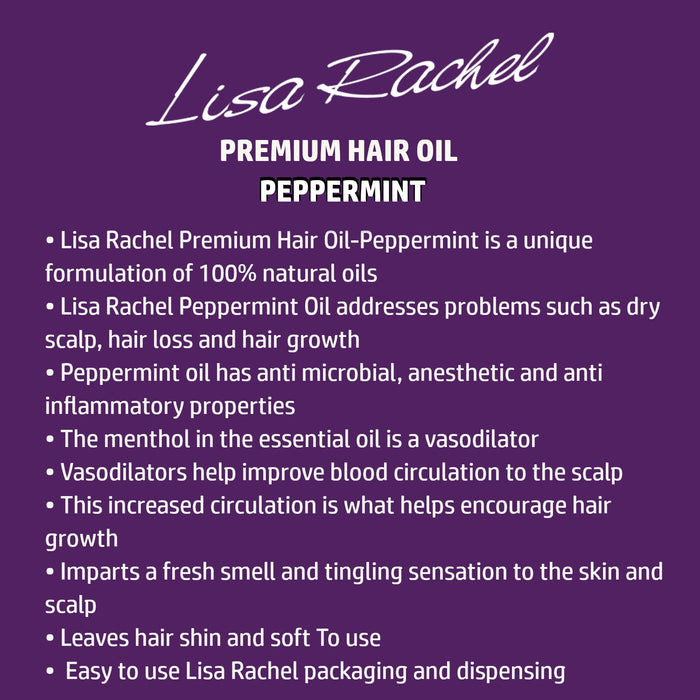 Lisa Rachel Premium Hair Oil - Peppermint Oil 4 oz. (2-PACK)