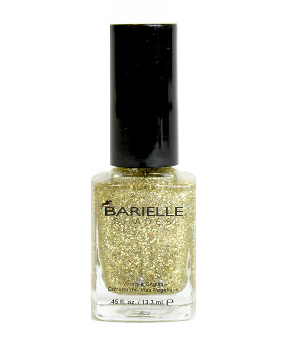 Barielle Nail Shade Peaches N' Cream - A Clear Gold Glitter