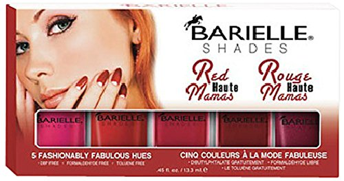 Barielle Red Haute Mamas Nail Polish - Five Various Shades, 2.25 oz.