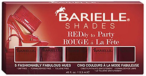 Barielle Reddy To Party Nail Polish - Five Various Shades, 2.25 oz.