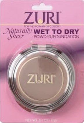 Zuri Naturally Sheer Pressed Powder - Wet To Dry - Caribbean Creme
