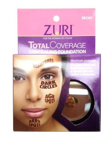 Zuri Total Coverage Concealing Foundation - Ebony 1.4 oz.