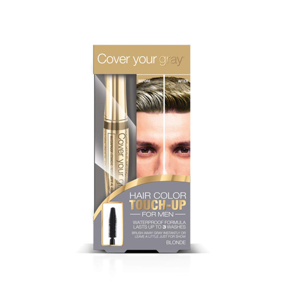 Cover Your Gray for Men Waterproof Brush-in Hair Color Touchup for Men - Blonde