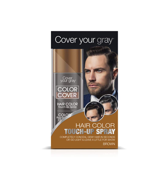 Cover Your Gray Mens Color Cover Touchup Spray - Brown