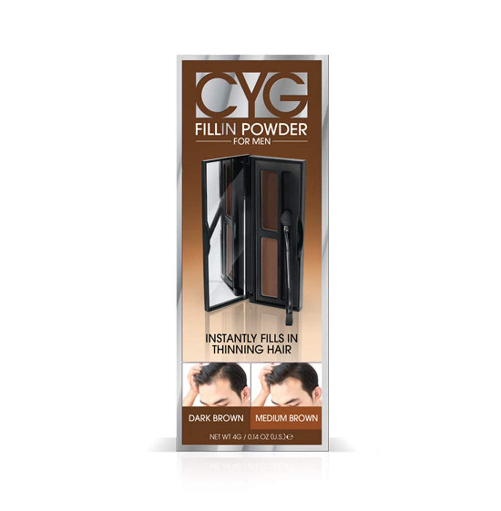 Cover Your Gray for Men Fill in Powder PRO - Medium Brown/Dark Brown (Pack of 6)