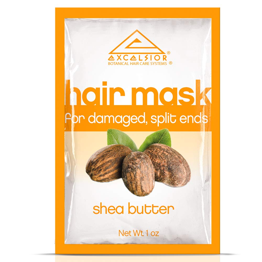 Excelsior Shea Butter Hair Mask Pkt.-, Split Ends .1oz 6PK