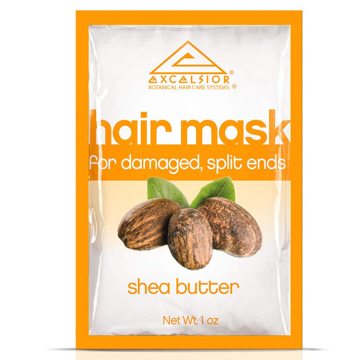 Excelsior Shea Butter Hair Mask Pkt.-, Split Ends .1oz 12PK