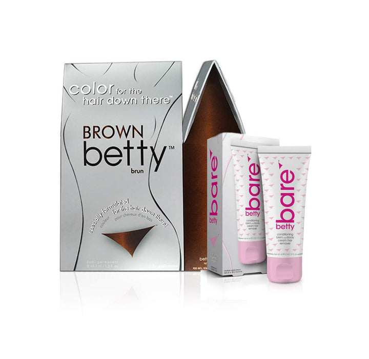 Brown Betty - Color for the Hair Down There Kit w/ BettyBare Hair Remover Cream