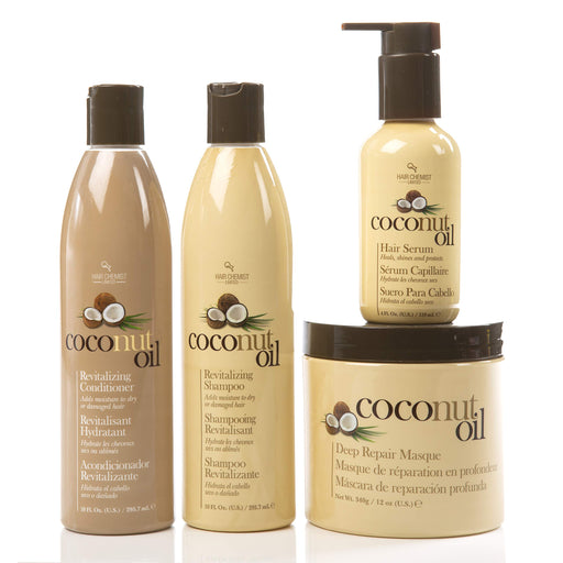 Hair Chemist Coconut Oil Hair Care 4 Piece Set - Revitalize And Nourish Dry Or Damaged Hair