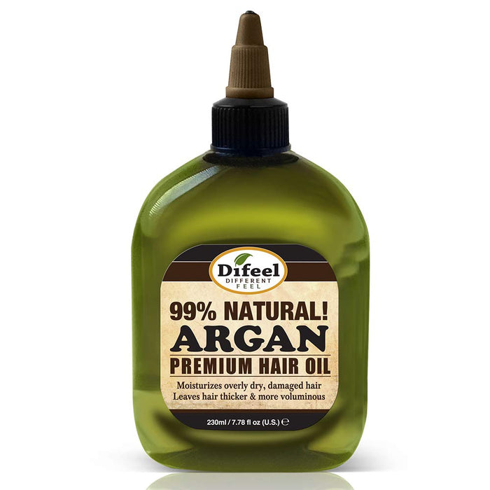 Difeel Premium Natural Hair Oil- Argan Oil 8oz 6PK