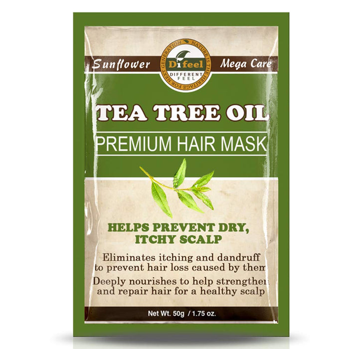Difeel Premium Hair Mask- Tea Tree Oil 1.75oz 6PK