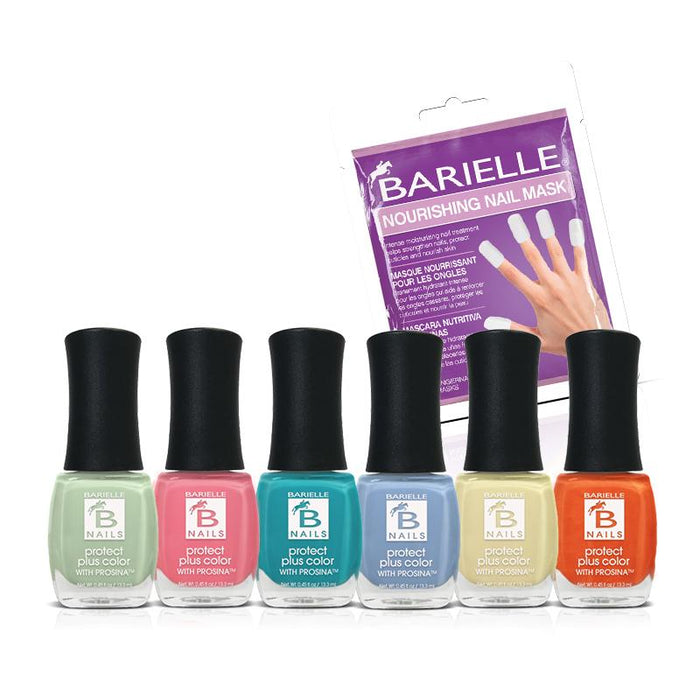 Barielle Summer's Here 6-Polish + Free Nail Masks Bundle - Barielle - America's Original Nail Treatment Brand