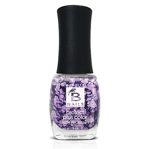 Protect+ Nail Color w/ Prosina - Amethyst (A Purple Glitter) - Barielle - America's Original Nail Treatment Brand