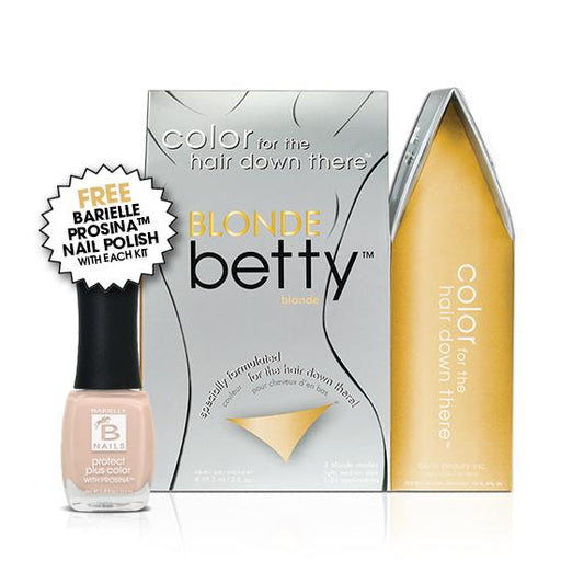 Blonde Betty Intimate Hair Color Kit with Free Prosina Nail Polish