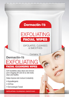 Dermactin-TS Exfoliating Facial Wipes 15-Count