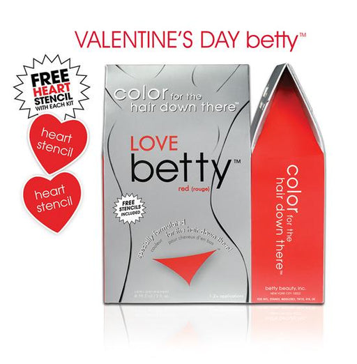Love Betty (RED) Intimate Hair Color Kit with Free Heart Stencils
