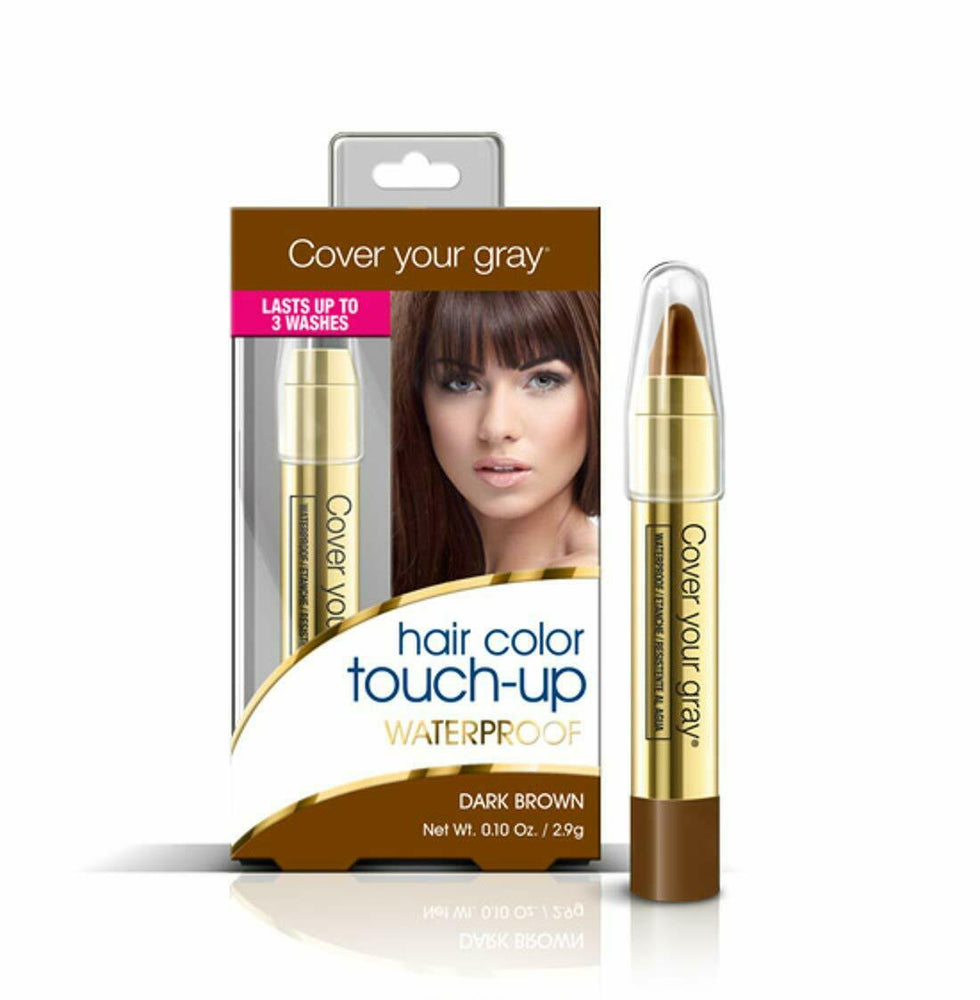 Cover Your Gray Waterproof Hair Color Touch-up Pencil - Dark Brown (2-PACK)