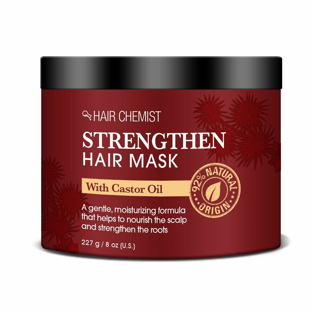 Hair Chemist Strengthen Hair Mask with Castor Oil 8 oz. (2-PACK)