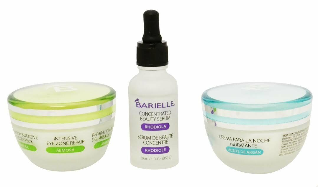 Barielle Essentials Night Time Skin Regimen 3PC Set- Eyes, Night & Wrinkle Cream