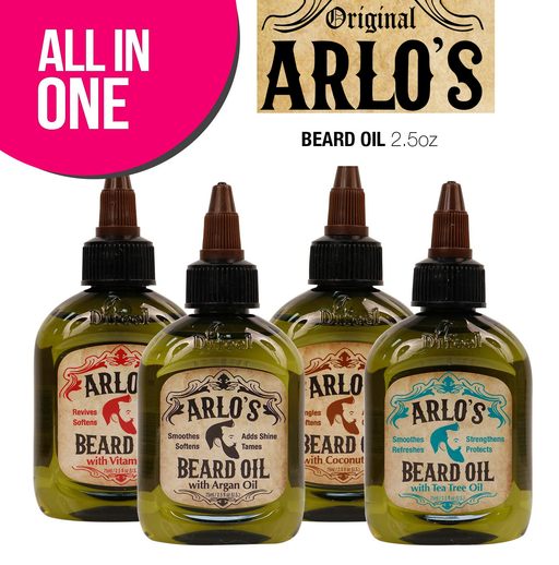Arlo's Beard Oil 4-Piece Gift Collection: Argan, Tea Tree, Vitamin E & Coconut