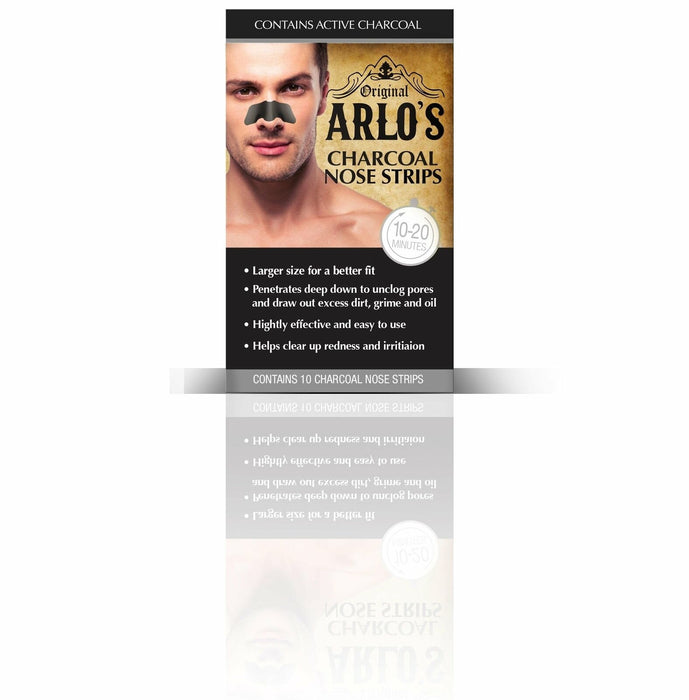 Arlo's Mens Charcoal Nose Strips 10-Count (6-PACK)