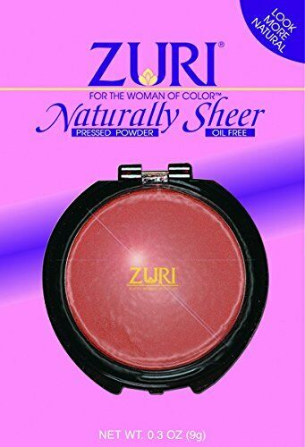 Zuri Pressed Powder Sheer - Natural Brown 3-Count (2-PACK)