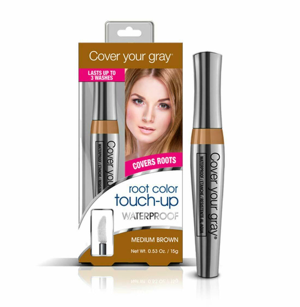 Cover Your Gray Waterproof Root Touch-up - Medium Brown (2-PACK)