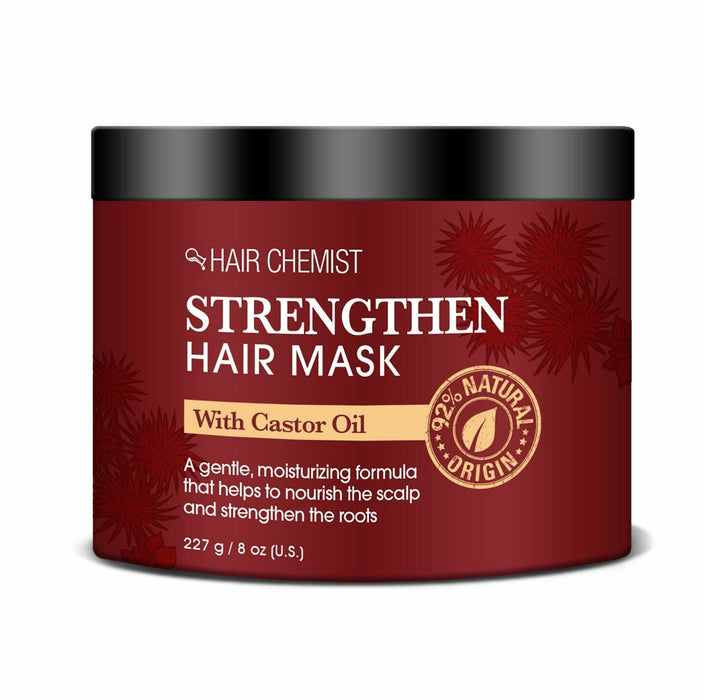 Hair Chemist Strengthen Hair Mask with Castor Oil 8 oz. (6-PACK)