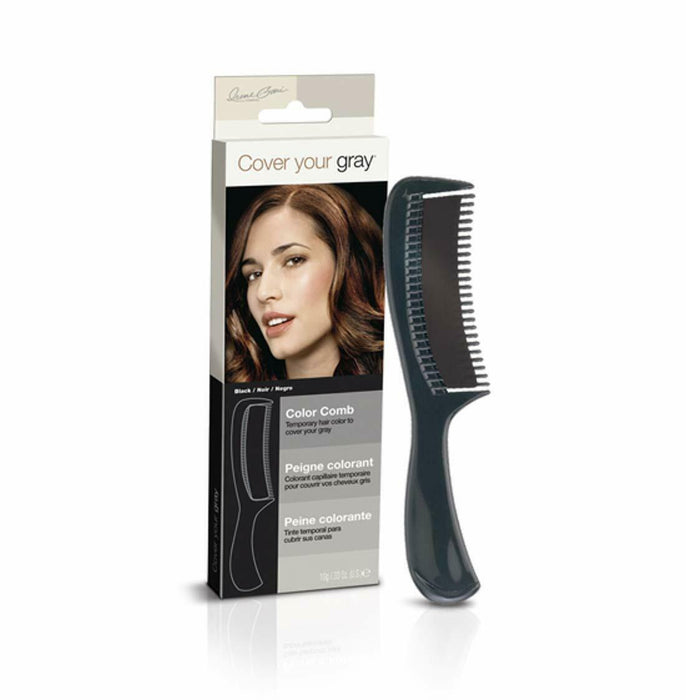 Cover Your Gray Color Comb - Black (6-PACK)