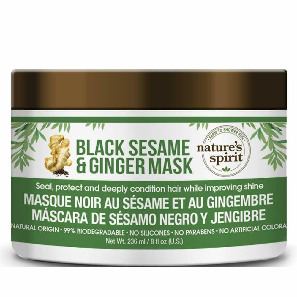 Nature's Spirit Mask - Black Sesame & Ginger 8 oz. (3-PACK)