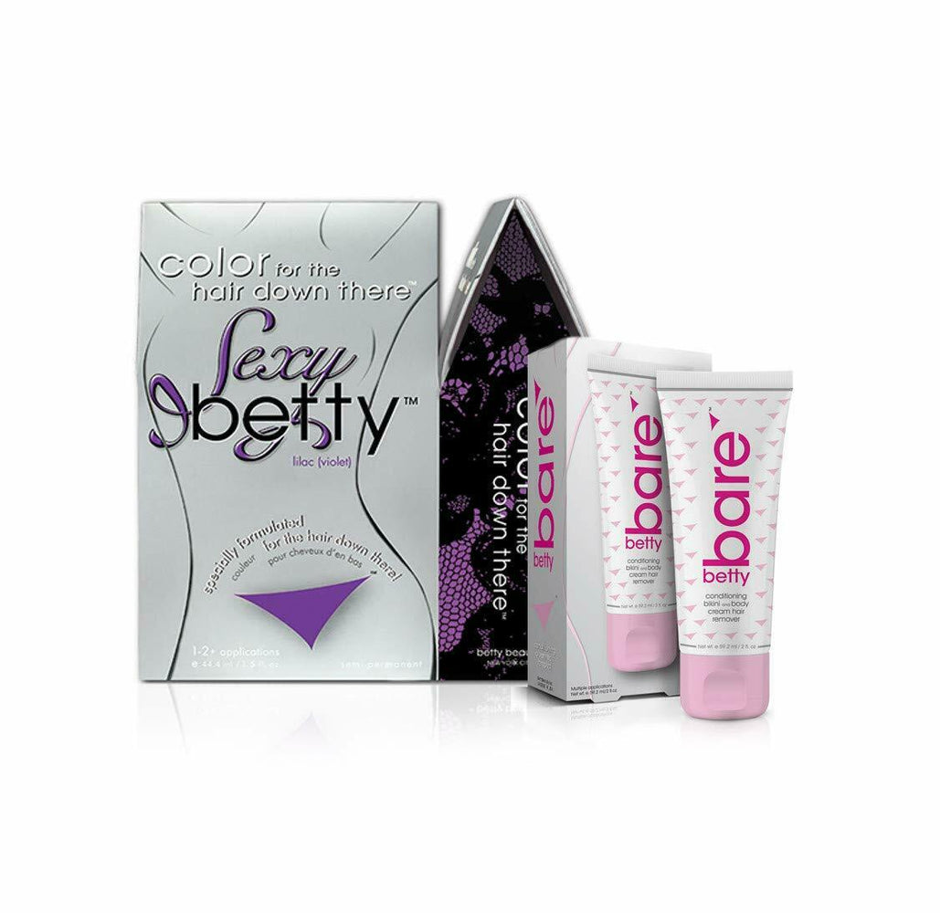 Sexy Betty - Color for the Hair Down There Kit with BettyBare Hair Remover Cream