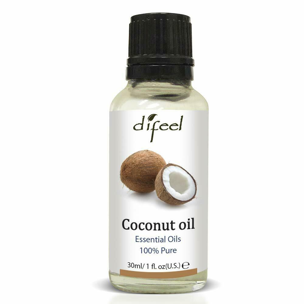 Difeel Essential Oil 100% Pure Extra Premium Grade Coconut Oil 1 oz 6PK