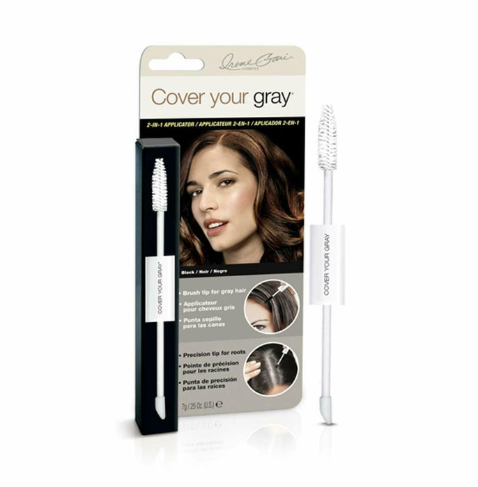 Cover Your Gray 2-in-1 Wand and Sponge Tip Applicator - Black (2-PACK)